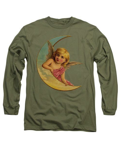 Moon Angel T Shirt Design Long Sleeve T-Shirt by Bellesouth Studio