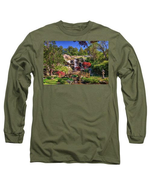 Long Sleeve T-Shirt featuring the photograph Moon Bridge And Maymont Falls by Rick Berk