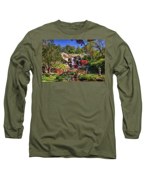 Moon Bridge And Maymont Falls Long Sleeve T-Shirt