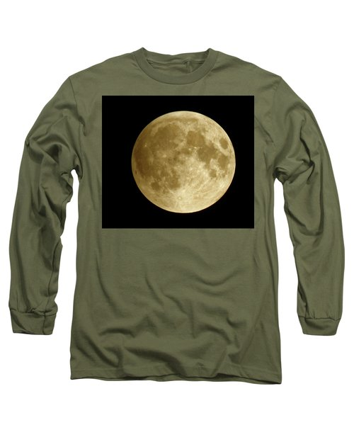 Moon During Eclipse Long Sleeve T-Shirt