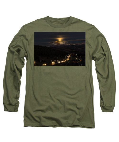 Moon Over Genessee Long Sleeve T-Shirt