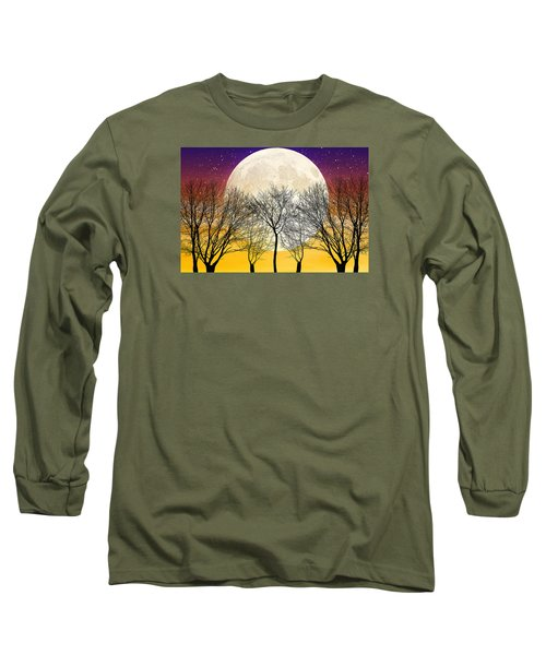 Moonlight Long Sleeve T-Shirt by Swank Photography