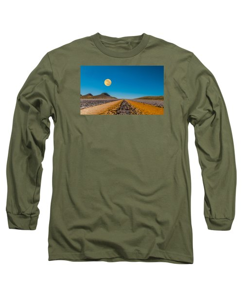 Moonrise Wyoming Long Sleeve T-Shirt by Don Spenner