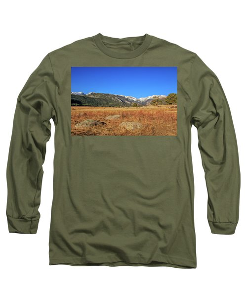 Moraine Park In Rocky Mountain National Park Long Sleeve T-Shirt by Peter Ciro
