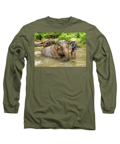 Morning Ablutions 4 Long Sleeve T-Shirt by Werner Padarin