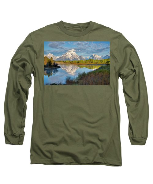 Morning At Oxbow Bend Long Sleeve T-Shirt