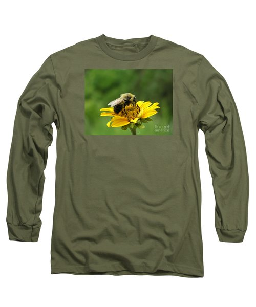 Morning Bee Long Sleeve T-Shirt by Susan  Dimitrakopoulos