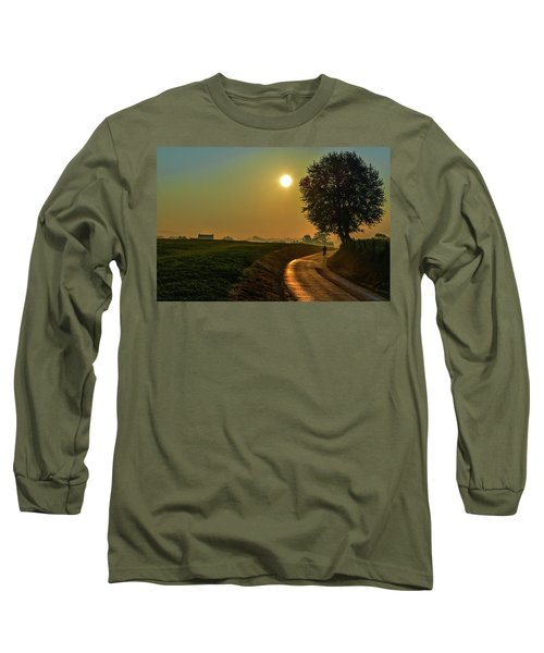 Morning Dew In Color Long Sleeve T-Shirt by Rainer Kersten