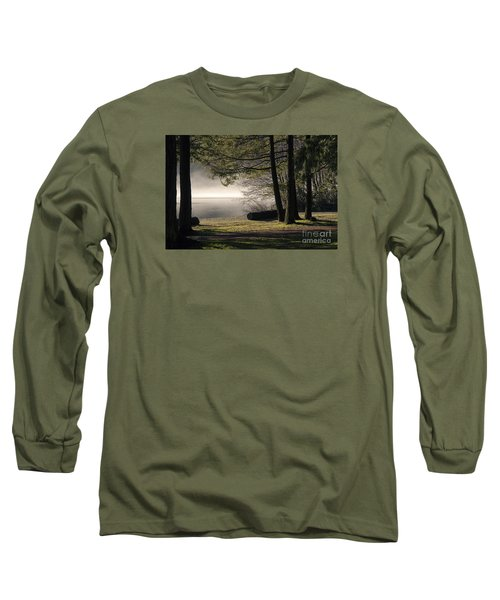 Long Sleeve T-Shirt featuring the photograph Morning Fog by Inge Riis McDonald