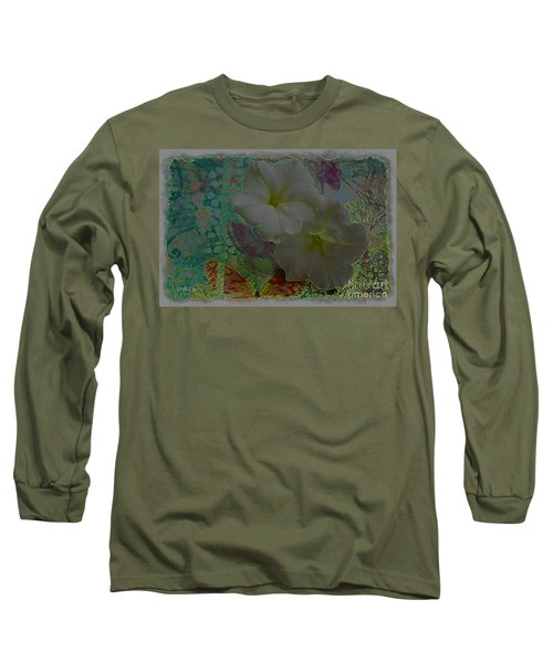 Morning Glory Fantasy Long Sleeve T-Shirt by Donna Bentley