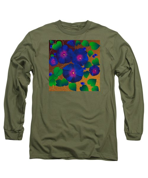 Long Sleeve T-Shirt featuring the digital art Morning Glory by Latha Gokuldas Panicker