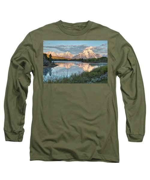Morning Light At Oxbow Bend Long Sleeve T-Shirt
