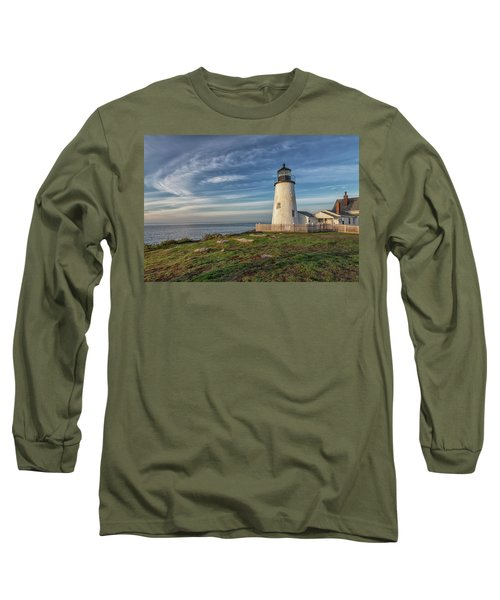 Morning Light At Pemaquid Point Long Sleeve T-Shirt
