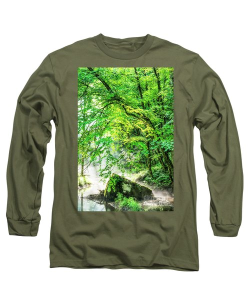 Morning Light In The Forest Long Sleeve T-Shirt