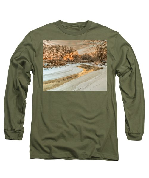 Morning Light On The Riverbank Long Sleeve T-Shirt