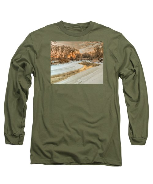 Morning Light On The Riverbank Long Sleeve T-Shirt