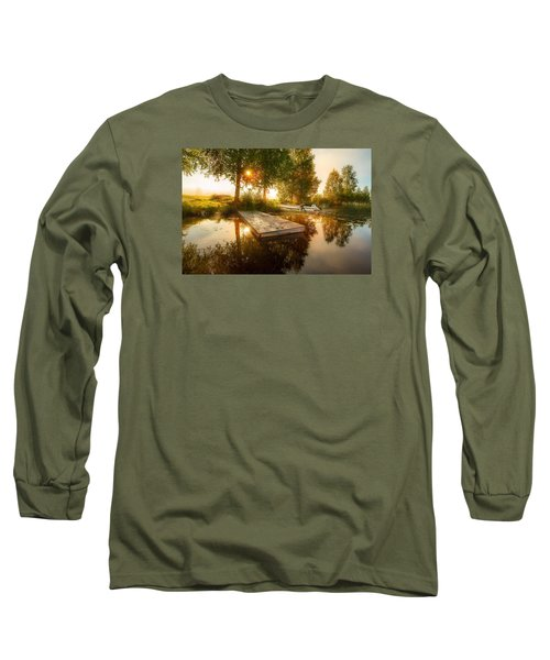 Long Sleeve T-Shirt featuring the photograph Morning Light by Rose-Maries Pictures
