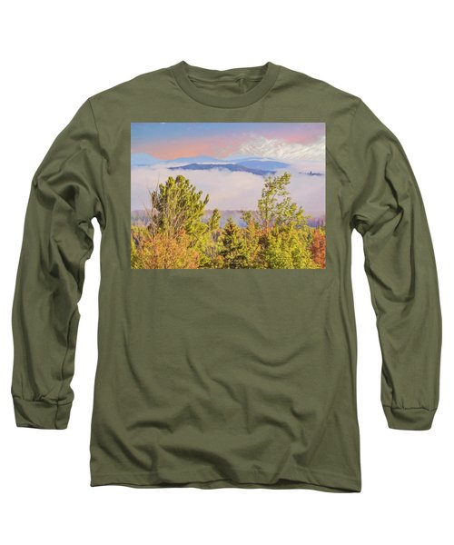 Morning Mountain View Northern New Hampshire. Long Sleeve T-Shirt