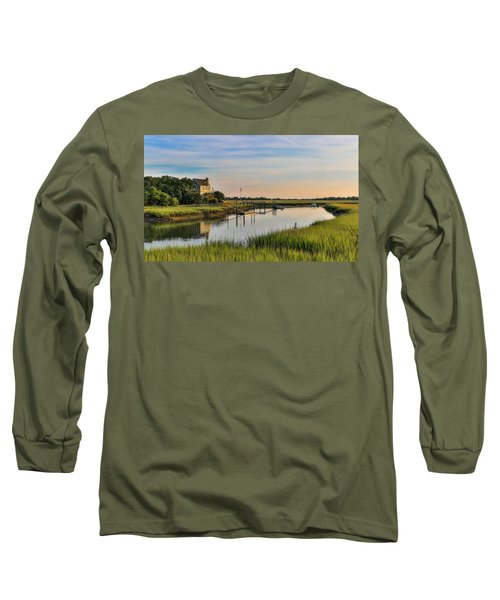 Morning On The Creek - Wild Dunes Long Sleeve T-Shirt