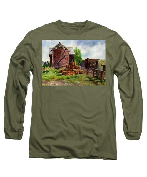 Morning On The Farm Long Sleeve T-Shirt by Anne Gifford