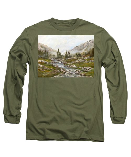 Long Sleeve T-Shirt featuring the painting Morning Rising Fog by Dorothy Maier