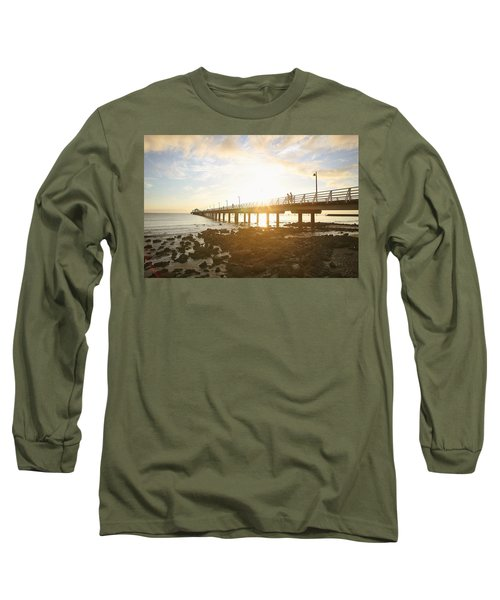 Morning Sunshine At The Pier  Long Sleeve T-Shirt