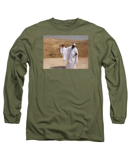 Long Sleeve T-Shirt featuring the photograph Moses by Simon