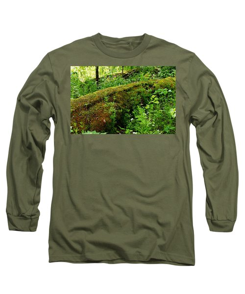 Moss Covered Log 2 Long Sleeve T-Shirt