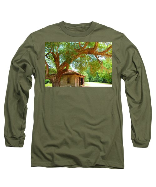 Mossy Tree In Natchez Long Sleeve T-Shirt