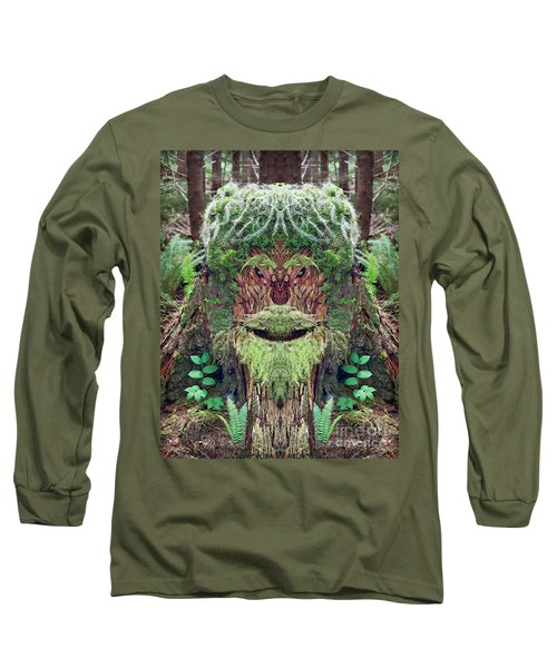 Long Sleeve T-Shirt featuring the photograph Mossman Tree Stump by Martin Konopacki
