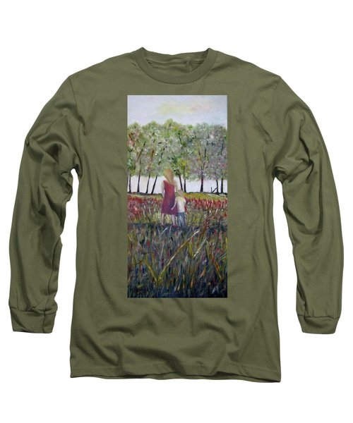 Long Sleeve T-Shirt featuring the painting Mother And Son by Marilyn  McNish