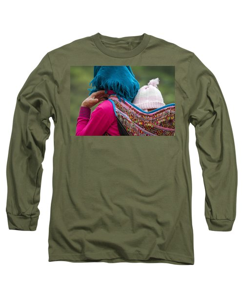 Long Sleeve T-Shirt featuring the photograph Mother, Sa Pa, 2014 by Hitendra SINKAR