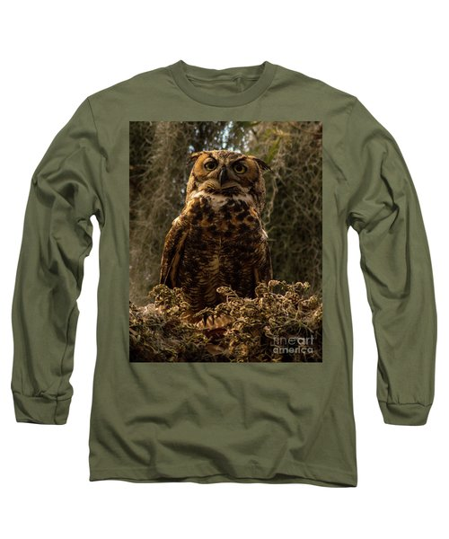 Mother Owl Posing Long Sleeve T-Shirt