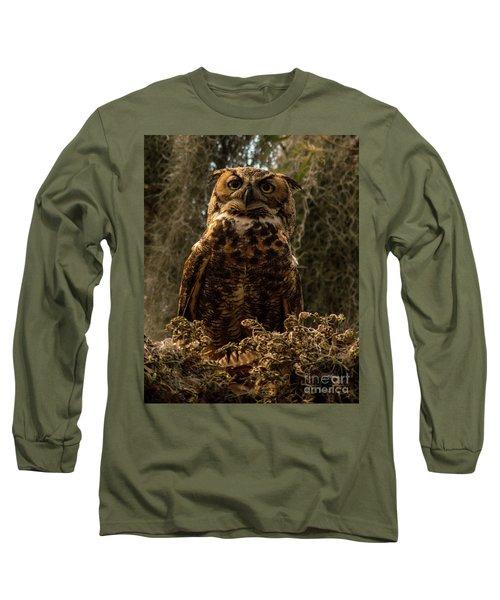 Mother Owl Posing Long Sleeve T-Shirt