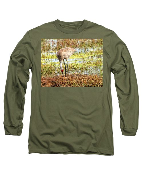 Mother Rearranging Her Eggs In The Nest Long Sleeve T-Shirt