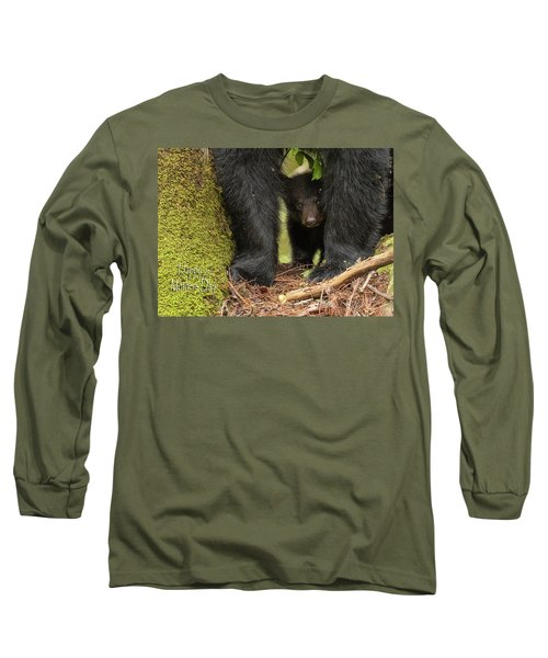 Mothers Day Bear Card Long Sleeve T-Shirt by Everet Regal