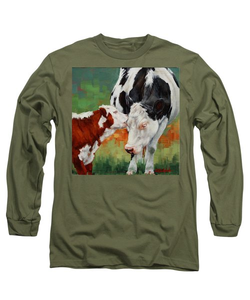 Long Sleeve T-Shirt featuring the painting Mothers Little Helper by Margaret Stockdale