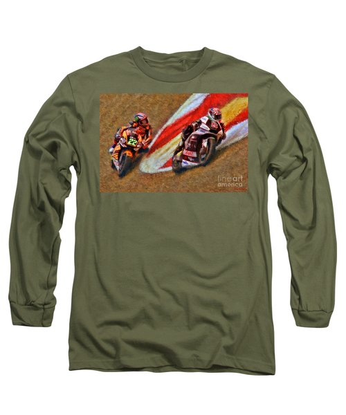 Moto2 Johann Zarco Leads Sam Lowes Long Sleeve T-Shirt