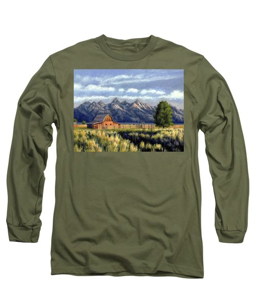 Moulton Barn At The Grand Tetons Long Sleeve T-Shirt