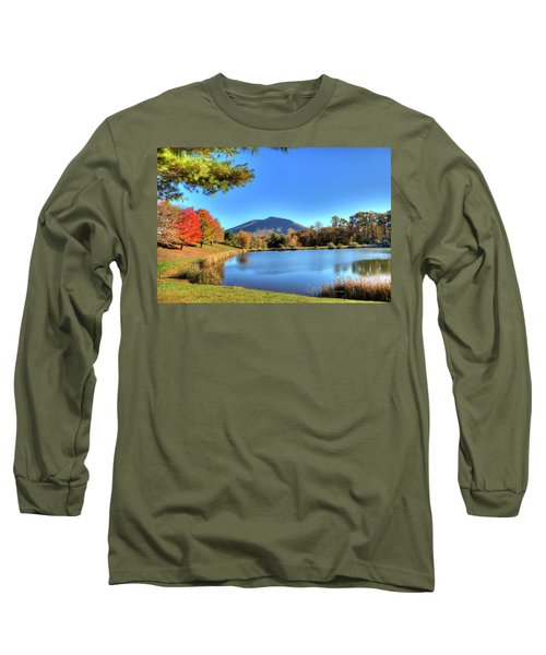 Mount Jefferson Reflection Long Sleeve T-Shirt by Dale R Carlson