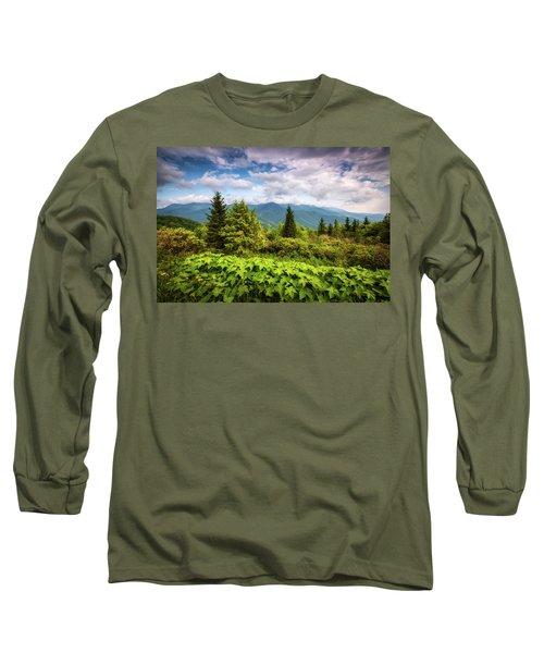 Mount Mitchell Asheville Nc Blue Ridge Parkway Mountains Landscape Long Sleeve T-Shirt