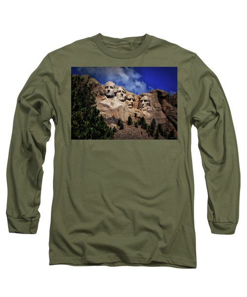 Mount Rushmore 008 Long Sleeve T-Shirt by George Bostian