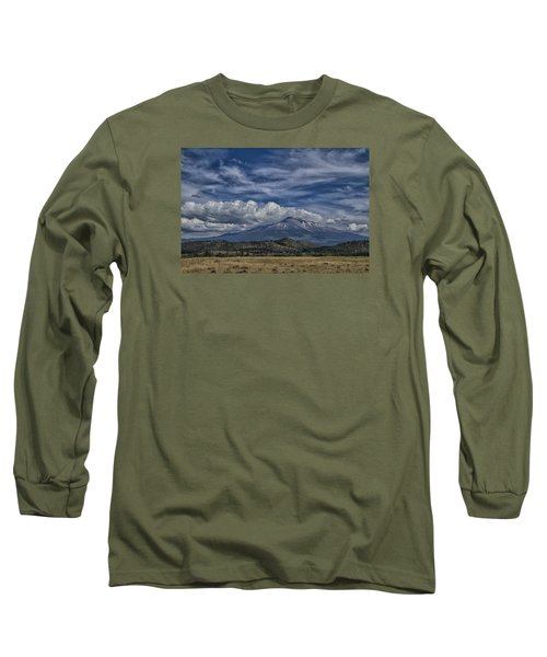 Long Sleeve T-Shirt featuring the photograph Mount Shasta 9946 by Tom Kelly