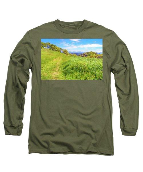 Mount Wanda Digital Watercolor Long Sleeve T-Shirt