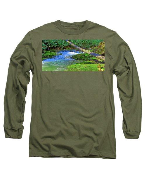 Mountain Appalachian Stream Long Sleeve T-Shirt