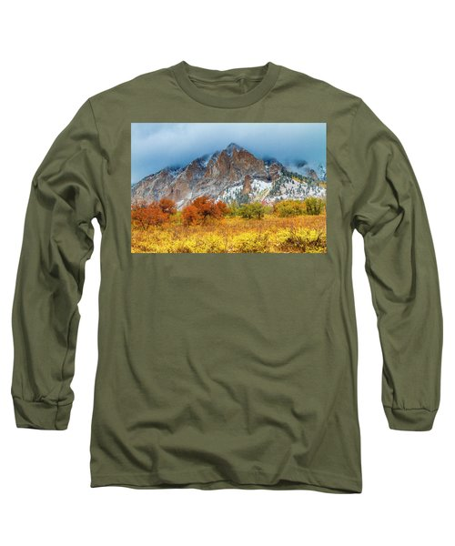 Mountain Autumn Color Long Sleeve T-Shirt by Teri Virbickis
