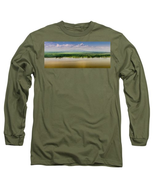 Mountain Beyond The River Long Sleeve T-Shirt
