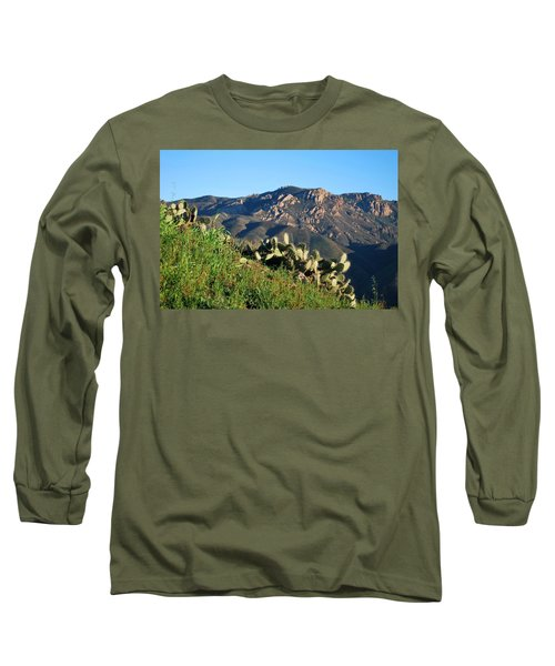 Mountain Cactus View - Santa Monica Mountains Long Sleeve T-Shirt