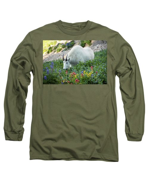 Mountain Goat On Timp Long Sleeve T-Shirt