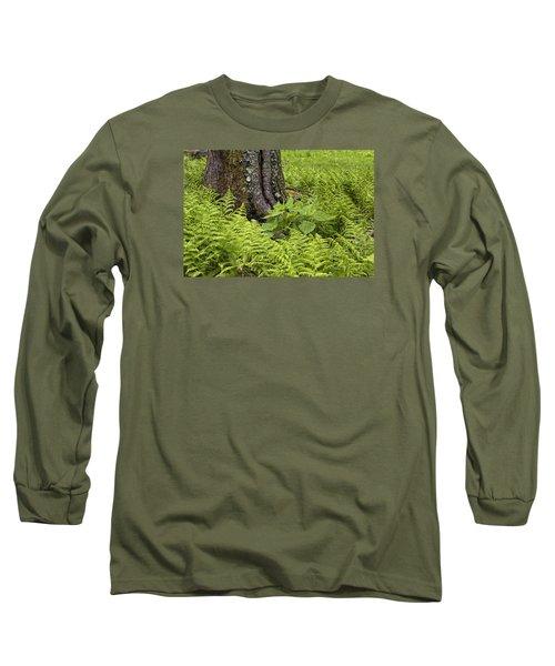 Mountain Green Ferns Long Sleeve T-Shirt
